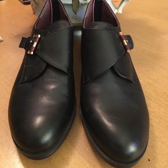 aad7240f8b86 Tommy Hilfiger Bettina Black Monk Strap Shoes New.  M 5b53c4a803087cf3314f1f9c